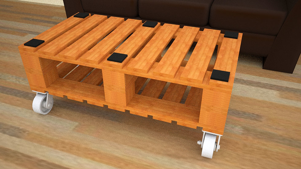 Mobile 2x2 Coffee Table
