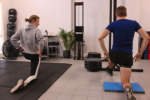 Release met powerband tijdens personal training