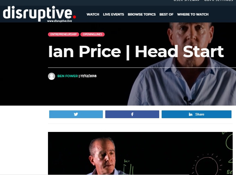 Disruptive web page image