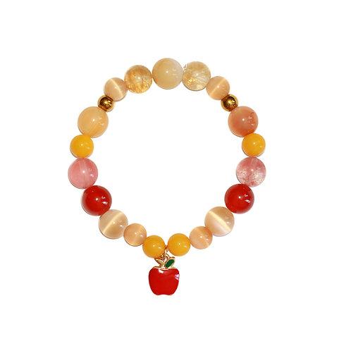 гривна от полускъпоценни камъни Honey Apple