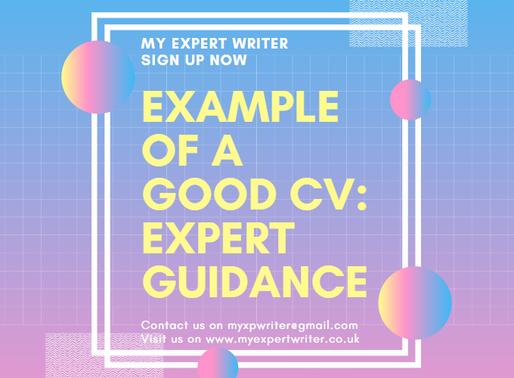 Example of a Good CV: expert guidance | my expert writer