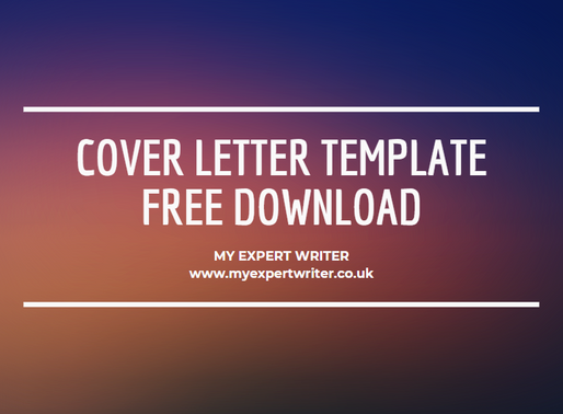 free cover letter template download | my expert writer