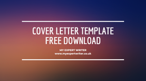 Free Cover Letter Template Example | My Expert Writer | Free Download Word Document for 2020 Job Seekers