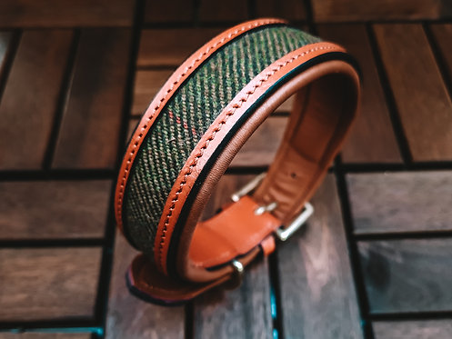 Halsband Scotland Tweed Cognac