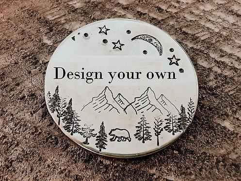 Metallmarke design your own
