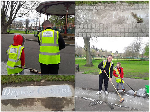 Friends of Dock Park Sping Clean Dock Pa