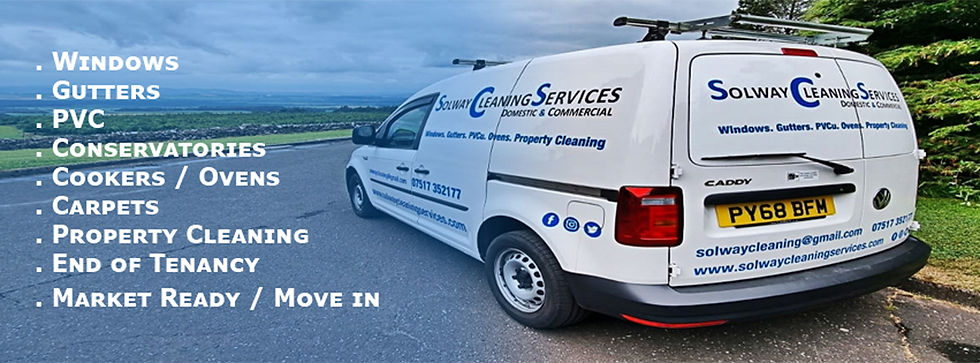 Solway Cleaning Services Domestic & Commercial Website Septemberv 2021 VW Caddy Hill Backg