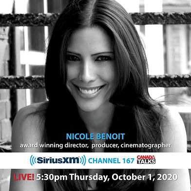 Nicole Benoit Film Director on SiriusXM.