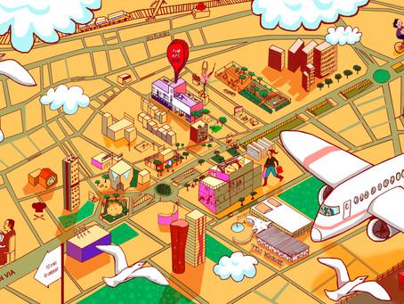 mapa ilustrado del entorno de nuestros apartamentos