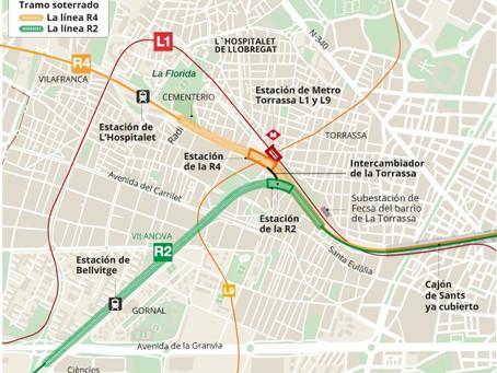 Acabar con la herida urbanística de L'Hospitalet de Llobregat soterrando las vías del tren