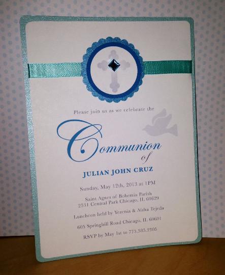Boy Communion Invitation Design Me Sweet Chicago printable