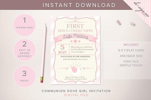 DIGITAL Communion Dove Invitation - INSTANT DOWNLOAD