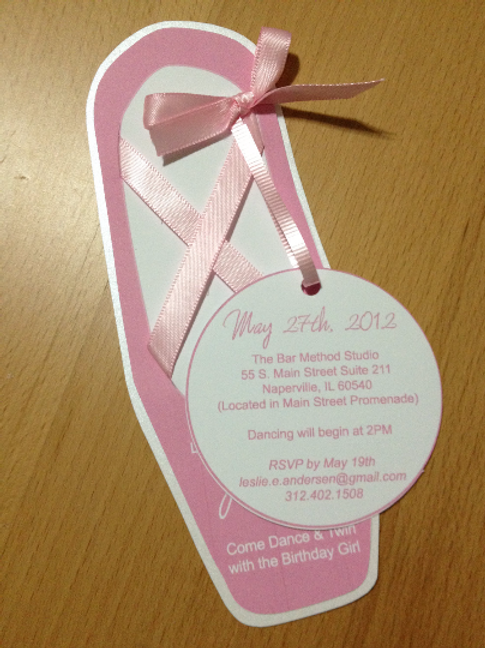 Ballerina Slipper Invitation