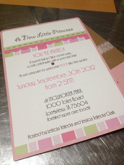 A New Little Princess Invitation