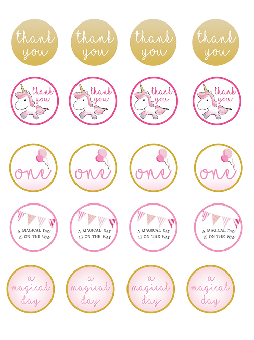 Printable Magical Unicorn Tags
