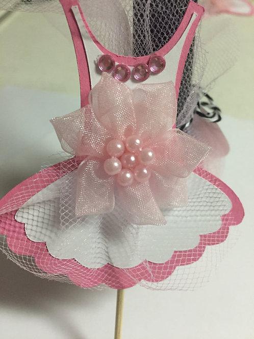 Mini Ballerina Tutu Cupcake Toppers