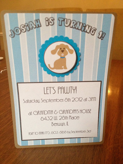 Puppy Dog Invitation