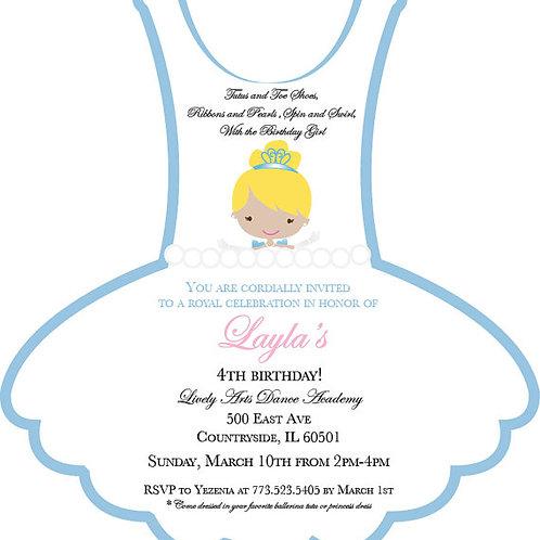 Princess Inspired Tutu Invitation