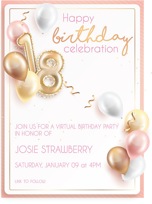 Sweet 18th Birthday Invitation