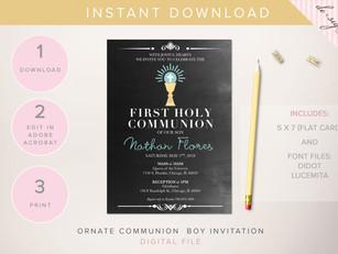 First Communion: Invitations
