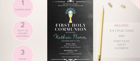 First Communion: Invitations
