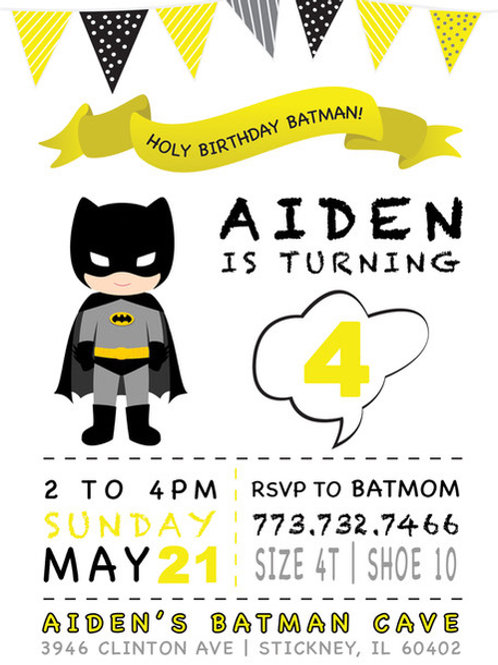 Batman-inspired Invitation