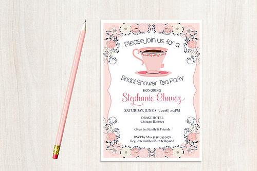 tea party bridal shower invites