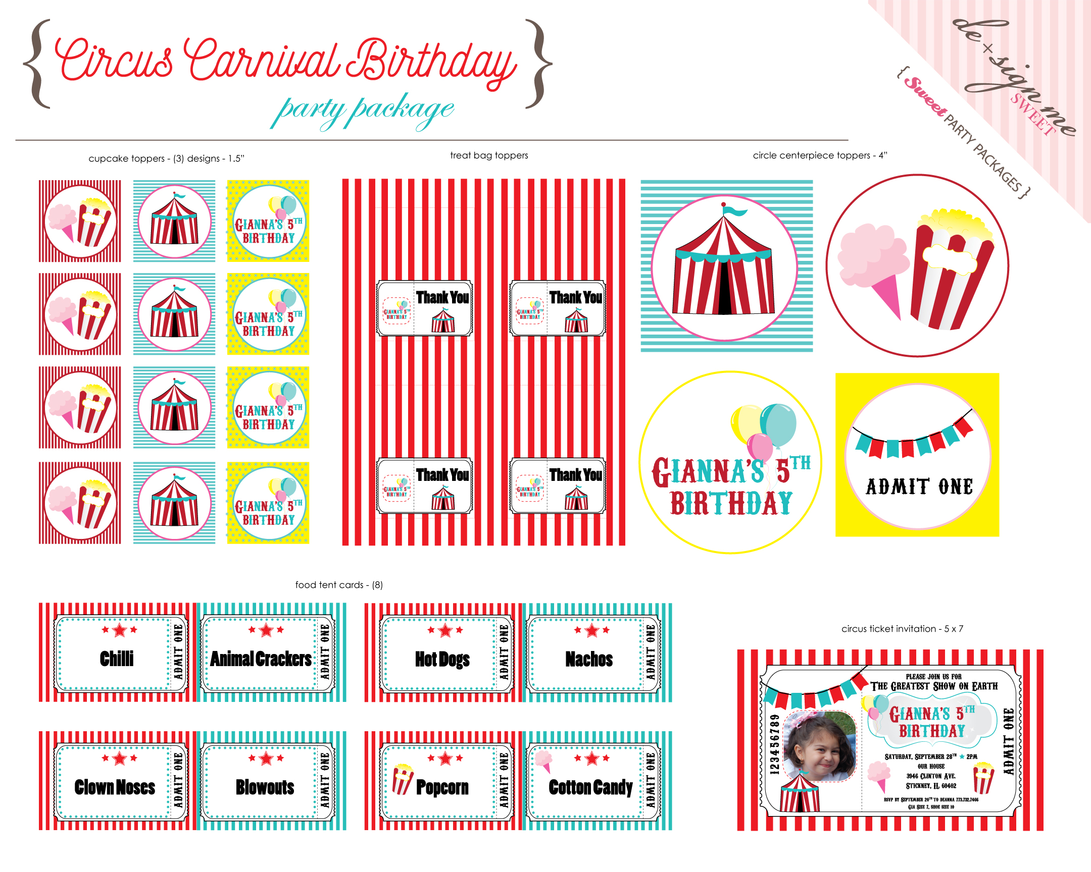 Circus Carnival Birthday