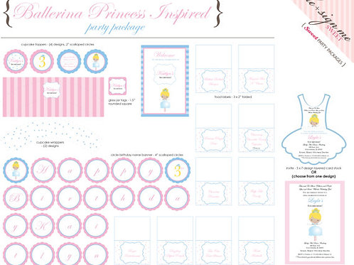 Printable Princess Inspired Birthday Party Package