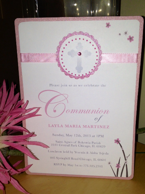 Girl Communion Invitation
