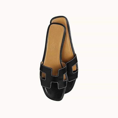 Hermes Sandals Oran Black