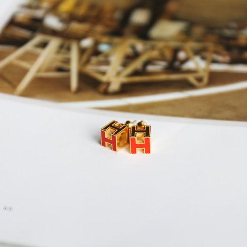 Cube H Earrings