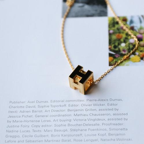 Cube H Necklace