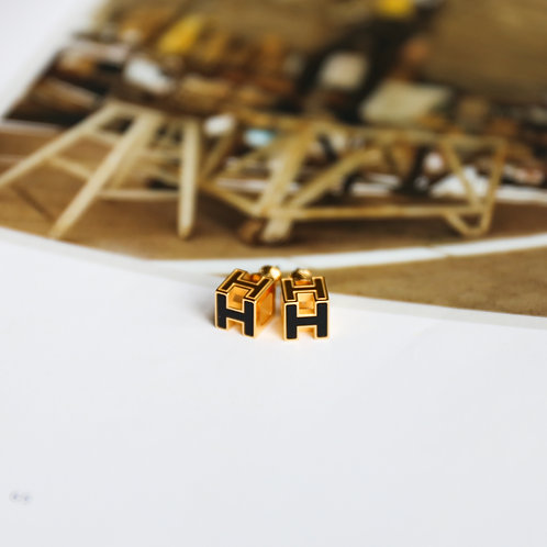 Cube H Earrings