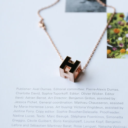 Cube H Necklace