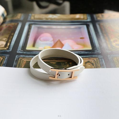 Hermes Behapi Double Tour bracelet