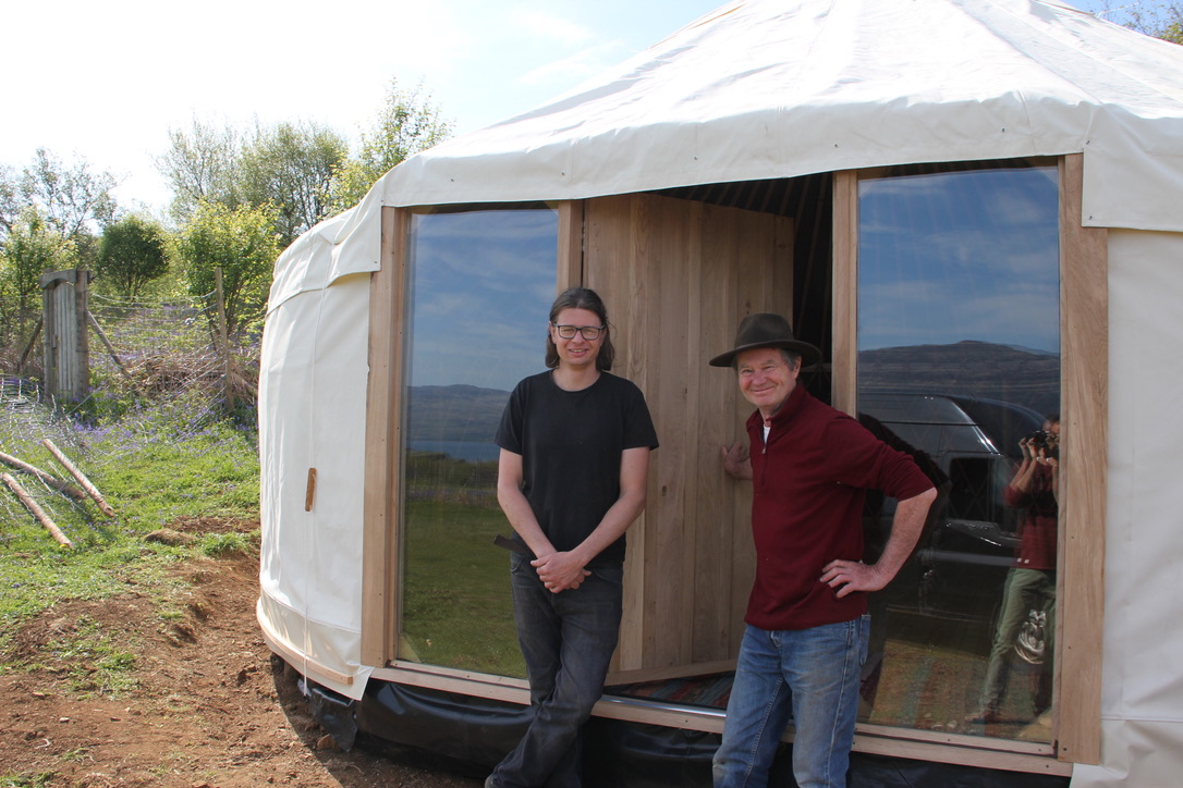 """James and Paul from """"Red Kite Yurts"""", great people and masters of yurt making!"""