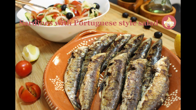 Grilled Sardines with Portuguese Style Salad