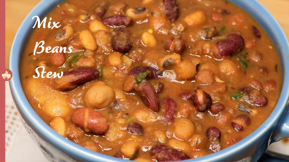 Pressure Cooker Mixed Beans Stew