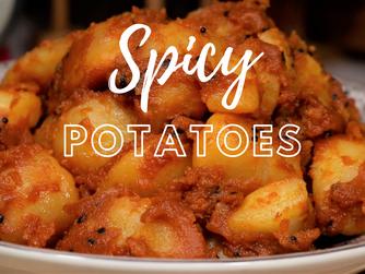 Spicy Potatoes   Alu Dum