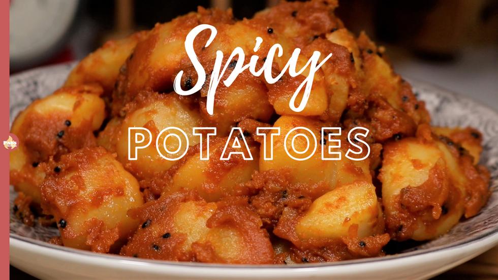 Spicy Potatoes | Alu Dum