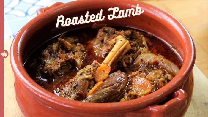 Clay pot Roasted Lamb | Slow Roast Lamb