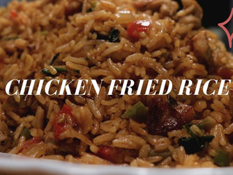 Chicken fried Rice with mixed Pickle