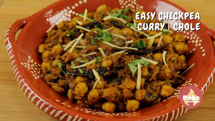Easy Chickpea Curry recipe | Chole recipe | Chana Tarkari recipe