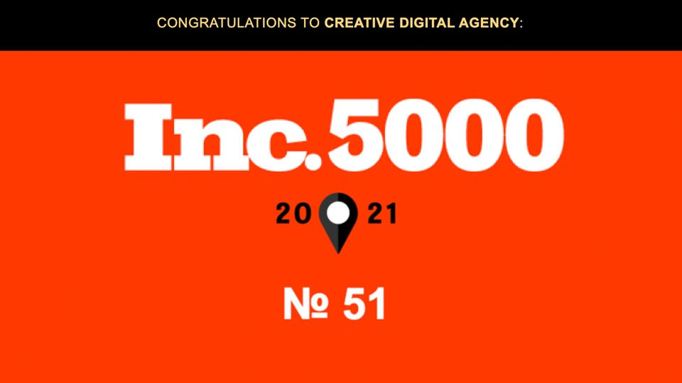 CDA Creative Digital Agency Ranks on 2021 Inc. 5000 List