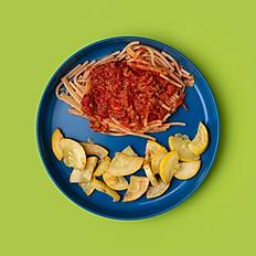 GF Spaghetti Bolognese and Seasonal Veggie (Toddler Size)