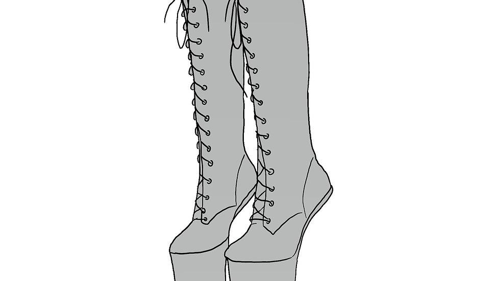 Heelless Calf Boots