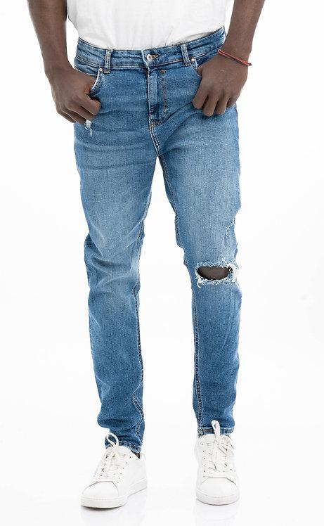 بنطلون جينز رجالي 99 BERSHKA 3033