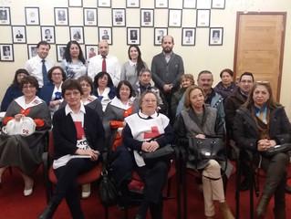 Alcalde se reúne con instituciones solidarias de la comuna para presentar y mostrar los avances en p