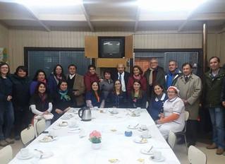 Positiva y amena reunión con directora, docentes y apoderados de la Escuela Aldea Campesina